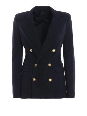 POLO RALPH LAUREN: giacche blazer - Blazer doppiopetto in jersey blu
