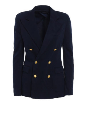Polo Ralph Lauren: blazers - Knitted double-breasted blazer