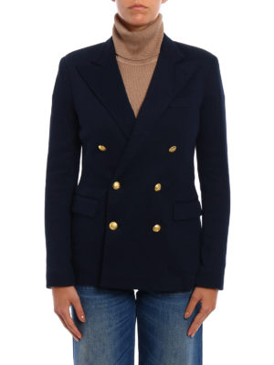 Polo Ralph Lauren: blazers online - Knitted double-breasted blazer