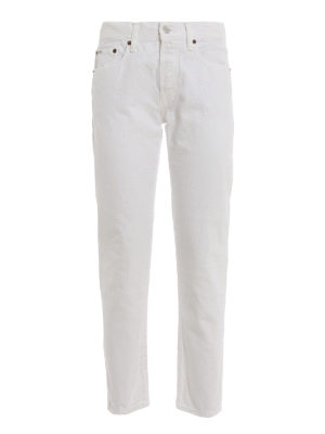 POLO RALPH LAUREN: Boyfriend - The Avery white boyfriend jeans