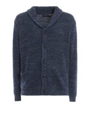 POLO RALPH LAUREN: cardigan - Cardigan blu chiaro in cotone a coste inglesi