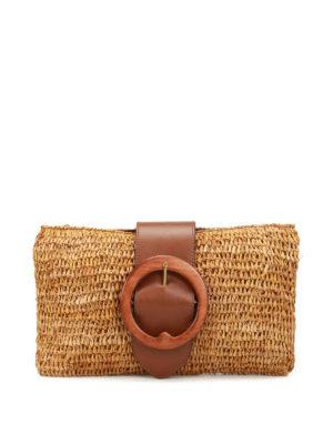 Polo Ralph Lauren: clutches - Lennox small natural raffia clutch