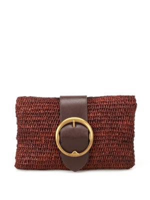 Polo Ralph Lauren: clutches - Lennox small raffia clutch