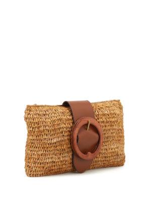 Polo Ralph Lauren: clutches online - Lennox small natural raffia clutch