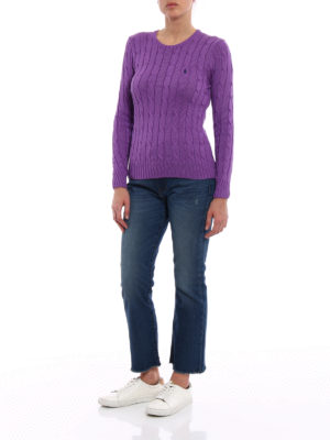 Polo Ralph Lauren: crew necks online - Twist Pima cotton purple sweater