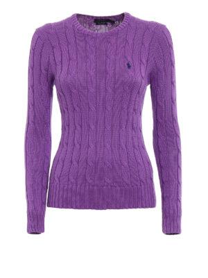 Polo Ralph Lauren: crew necks - Twist Pima cotton purple sweater