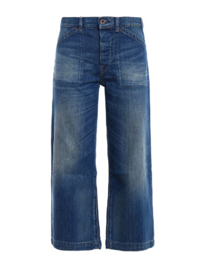 Polo Ralph Lauren: flared jeans - Faded denim culottes