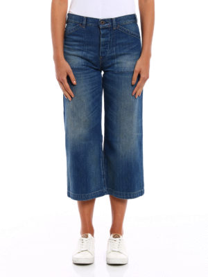 Polo Ralph Lauren: flared jeans online - Faded denim culottes