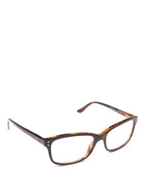 POLO RALPH LAUREN: Occhiali - Occhiali rettangolari con montatura bicolore