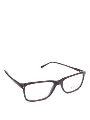 POLO RALPH LAUREN: Occhiali - Occhiali rettangolari con montatura nera