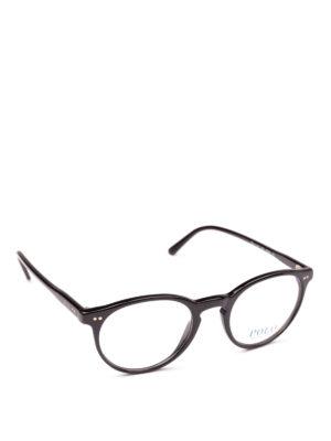 POLO RALPH LAUREN: Occhiali - Occhiali da vista con montatura tonda nera