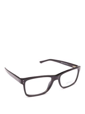 POLO RALPH LAUREN: Occhiali - Occhiali da vista montatura squadrata nera