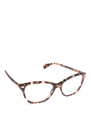 POLO RALPH LAUREN: Occhiali - Occhiali rettangolari con montatura fantasia