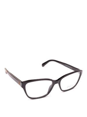 POLO RALPH LAUREN: Occhiali - Occhiali rettangolari con dettaglio dorato