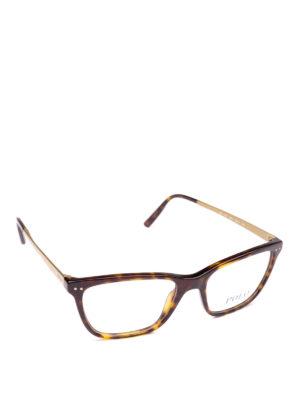POLO RALPH LAUREN: Occhiali - Occhiali rettangolari in acetato e metallo