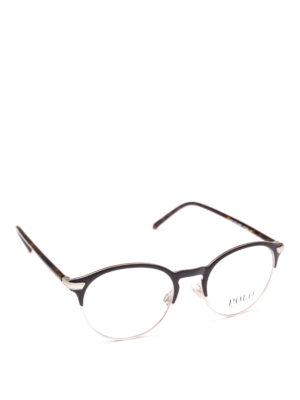 POLO RALPH LAUREN: Occhiali - Occhiali con half frame in metallo e acetato