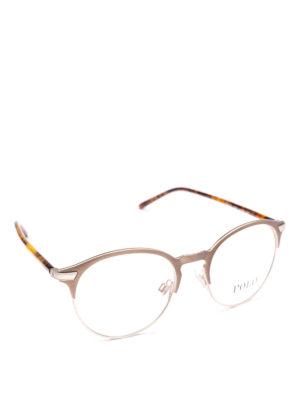 POLO RALPH LAUREN: Occhiali - Occhiali con half frame metallo e tartaruga