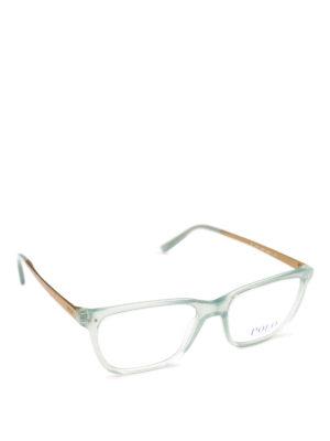 POLO RALPH LAUREN: Occhiali - Occhiali rettangolari in acetato trasparente