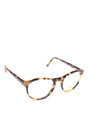 POLO RALPH LAUREN: Occhiali - Occhiali ovali con montatura tartaruga