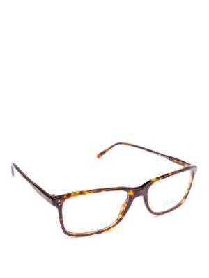 POLO RALPH LAUREN: Occhiali - Occhiali rettangolari montatura effetto legno