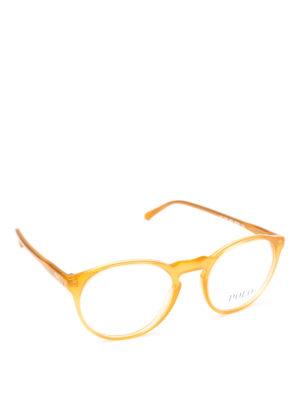 POLO RALPH LAUREN: Occhiali - Occhiali da vista tondi in acetato giallo