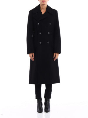 Polo Ralph Lauren: long coats online - Wool double-breasted coat