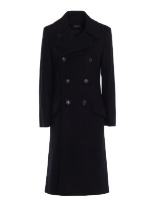 Polo Ralph Lauren: long coats - Wool double-breasted coat