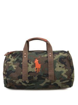 POLO RALPH LAUREN: Borse da viaggio - Borsone camouflage con logo arancio