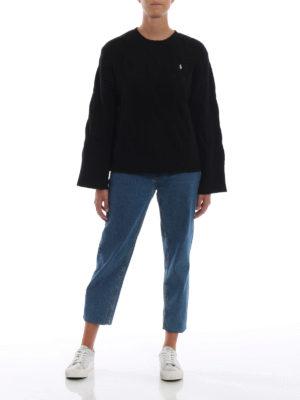 POLO RALPH LAUREN: maglia collo rotondo online - Pullover in merino a trecce con maniche ampie