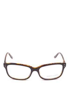 POLO RALPH LAUREN: Occhiali online - Occhiali rettangolari con montatura bicolore