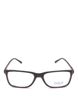 POLO RALPH LAUREN: Occhiali online - Occhiali rettangolari con montatura nera