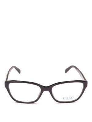 POLO RALPH LAUREN: Occhiali online - Occhiali rettangolari con dettaglio dorato
