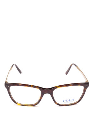 POLO RALPH LAUREN: Occhiali online - Occhiali rettangolari in acetato e metallo