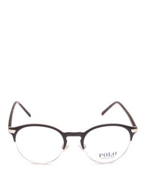 POLO RALPH LAUREN: Occhiali online - Occhiali con half frame in metallo e acetato