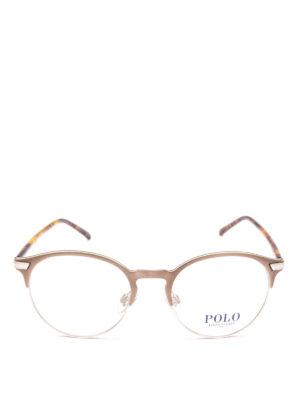 POLO RALPH LAUREN: Occhiali online - Occhiali con half frame metallo e tartaruga