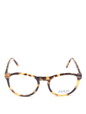 POLO RALPH LAUREN: Occhiali online - Occhiali ovali con montatura tartaruga