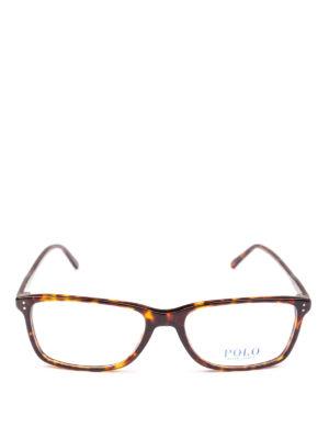 POLO RALPH LAUREN: Occhiali online - Occhiali rettangolari montatura effetto legno