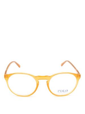 POLO RALPH LAUREN: Occhiali online - Occhiali da vista tondi in acetato giallo