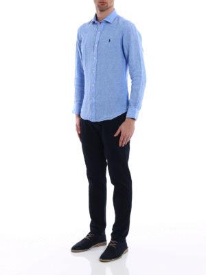 POLO RALPH LAUREN: camicie online - Camicia semplice in puro lino