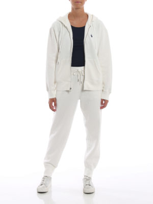 POLO RALPH LAUREN: pantaloni sport online - Pantaloni bianchi in misto cotone felpato