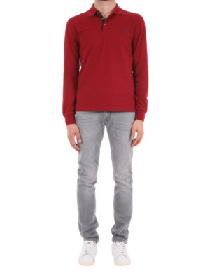 Polo Ralph Lauren: polo shirts online - Cotton slim fit polo shirt
