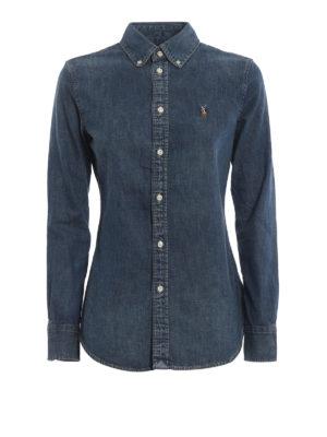POLO RALPH LAUREN: camicie - Camicia di jeans con collo b/d