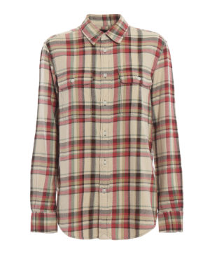 POLO RALPH LAUREN: camicie - Camicia in flanella di cotone a quadri