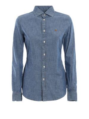 POLO RALPH LAUREN: camicie - Camicia slim in cotone effetto denim