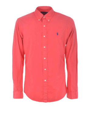 POLO RALPH LAUREN: shirts - Red cotton shirt