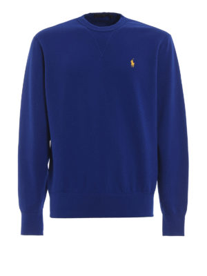 POLO RALPH LAUREN: Sweatshirts & Sweaters - Blue soft cotton blend classic sweatshirt