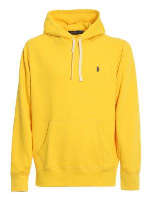 POLO RALPH LAUREN: Sweatshirts & Sweaters - Navy fleece hoodie