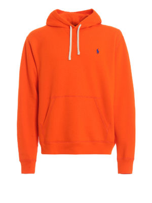 POLO RALPH LAUREN: Sweatshirts & Sweaters - Orange cotton blend hoodie