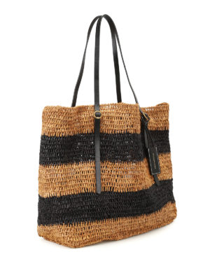Polo Ralph Lauren: totes bags online - Striped raffia large tote
