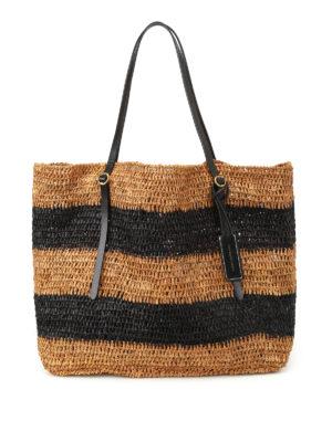 Polo Ralph Lauren: totes bags - Striped raffia large tote
